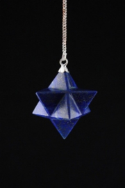Lapis Lazuli Merkaba pendel achtpuntig
