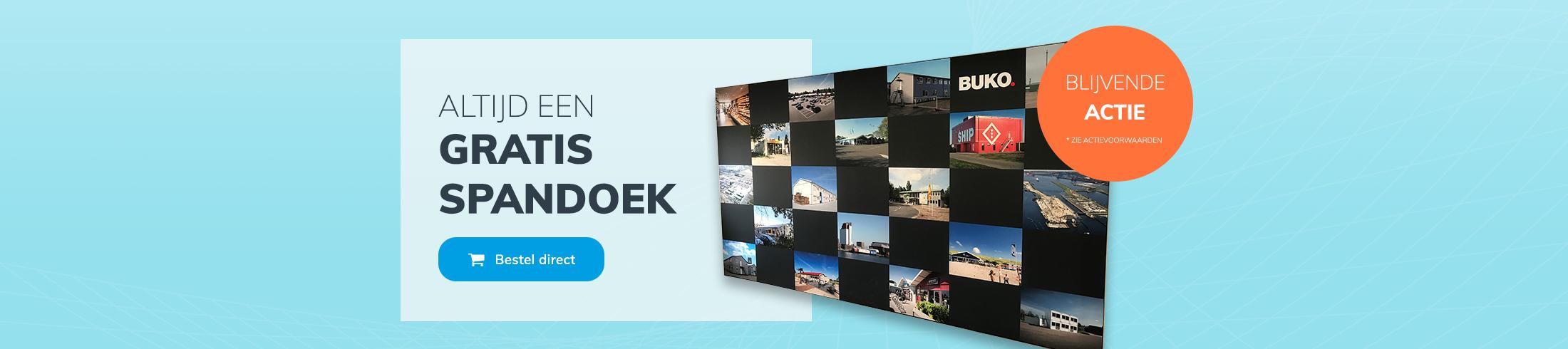 Gratisspandoek.nl Blijvende actie - slide 1