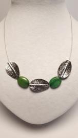 Ketting met groene jade