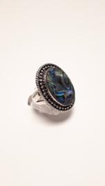 Zilveren ring met abalone
