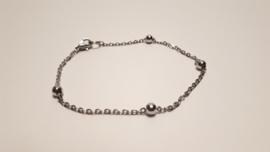Eenvoudige zilveren armband