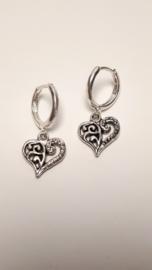 Zilveren ringen met hartjes