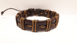 Bruin lederen armband
