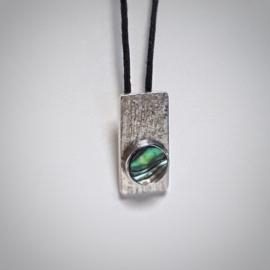 Zilveren hanger met abalone