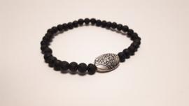 Armband van lavasteen