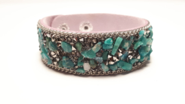 Armband met groene steentjes
