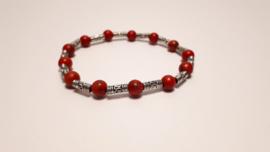 Armband met rode turkoois