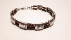 Armband van een combinatie van koper en zilver