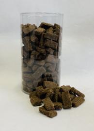 Vleestrainer Struisvogel Bites in Luxe koker 10 x 350 gram