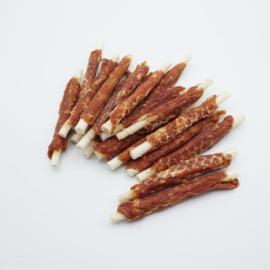 Rawhide sticks met kip 13 cm - 5 zakken van 400 g (ca. 30 sticks/zak)
