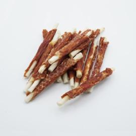 Rawhide sticks met eend 12 cm - 5 zakken van 400 g (ca. 30 sticks/zak)