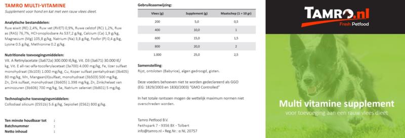 Tamro Multi-Vitamine Supplement - 500 g