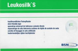 Leukosilk S Hechtpleister (=huidvriendelijk in zijde) 1,25cmx9,2m/rol