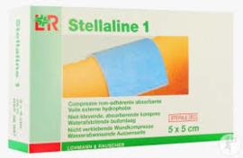 Stellaline I Kompres Steriel 5x5cm/100st €9,50 excl BTW