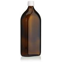 Glazen fles met dop 1000ml /st