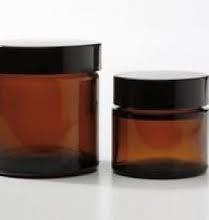 Bruin glazen potje met deksel 30ml /st €1,85 excl BTW