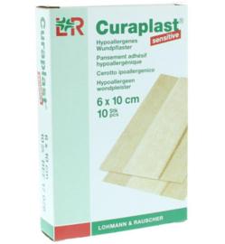 Curaplast Sensitive 6cmx10cm /10st €2,73 excl BTW