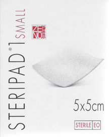 Steripad 1 - 5x5cm - 8-lagen - 40st(individueel verpakt) - STERIEL