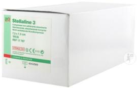 Stellaline III Kompres Steriel 7,5x7,5cm/100st €15,25 excl BTW