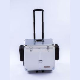 Luxe Mobile Pedicure Koffer met Grote Wielen Grijs/Zilver /st