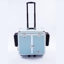 Luxe Mobile Pedicure Koffer met Grote Wielen Grijs/Blauw /st
