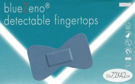BlueZeno detectable fingertops 7,2x4,2cm 50st