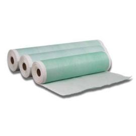 Onderzoekstafelpapier 3 lagen met groene PE 40cmx50m/rol