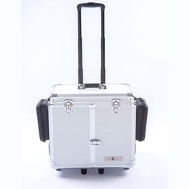 Luxe Mobile Pedicure Koffer met Grote Wielen Wit Parelmoer /st