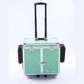 Luxe Mobile Pedicure Koffer met Grote Wielen Groen /st