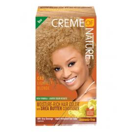 Creme Of Nature Moisture Rich Hair Color Kit C43 Lightest Blonde