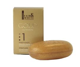 Fair & White Gold Satin Exfoliating Bar Soap 200gr/7oz
