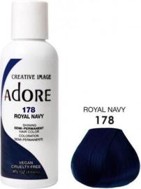 Adore Semi Permanent Hair Color 178 Royal Navy 118 ml