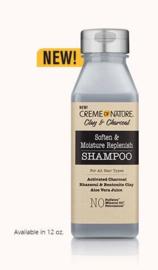 Creme of Nature Clay & Charcoal Soften & Moisture Replenish Shampoo 355 ml