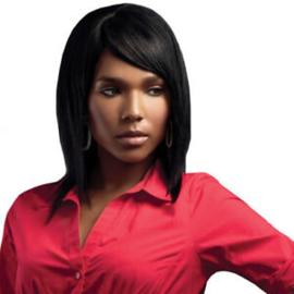 Sleek Human Hair Wig - PLATINUM
