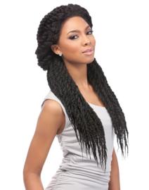 Sensationnel Empress Braided Lace Wig Senegal Lock Braids