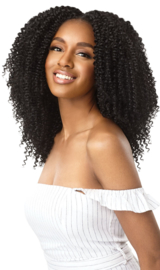 """Outre Human Hair Premium Blend Clip-In Big Beautiful Hair 4A Kinky Curly 10"""""""