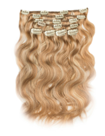 KCH Clip in Extensions  Body Wave ( 100 % Human Hair )