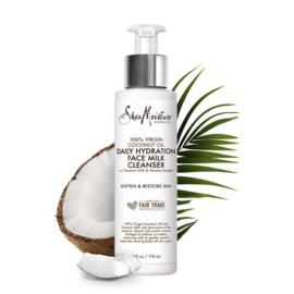Shea Moisture 100% Virgin Coconut Oil Daily Hydration Face Milk Cleanser 4 oz