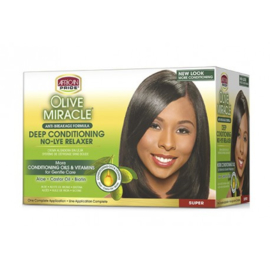 African Pride Olive Miracle No-lye Relaxer - SUPER