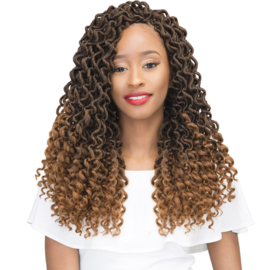 Janet Collection: 2X Curly Bohemian Locs 18