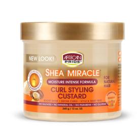 African Pride Shea Miracle Curl Styling Custard 12 oz