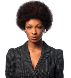 Sleek Human Hair Wig - AFRO