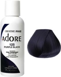 Adore Semi Permanent Hair Color 125 Purple Black 118 ml