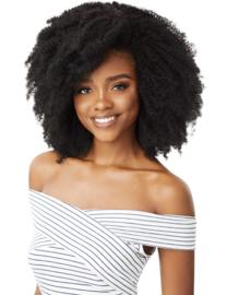"Outre Human Hair Premium Blend Clip-In Big Beautiful Hair 4C Corkscrew Afro 10"""