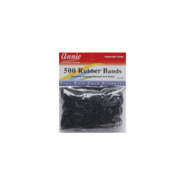 Annie Black Rubber Bands 500