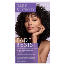 Dark & Lovely Fade Resist Natural Black Rich Conditioning Color 372