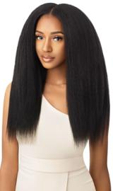 Outre Human Hair Premium Blend Clip-In Big Beautiful Hair KINKY STRAIGHT 18″