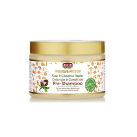 African Pride Moisture Miracle Aloe & Coconut Water Detangle & Condition Pre-Shampoo 340gr