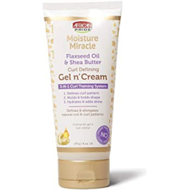 African Pride Moisture Miracle Flaxseed Oil & Shea Butter Curl Defining Gel N'Cream 170 Gr