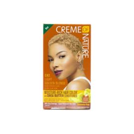 Creme Of Nature Moisture Rich Hair Color Kit C42 Light Golden Blonde